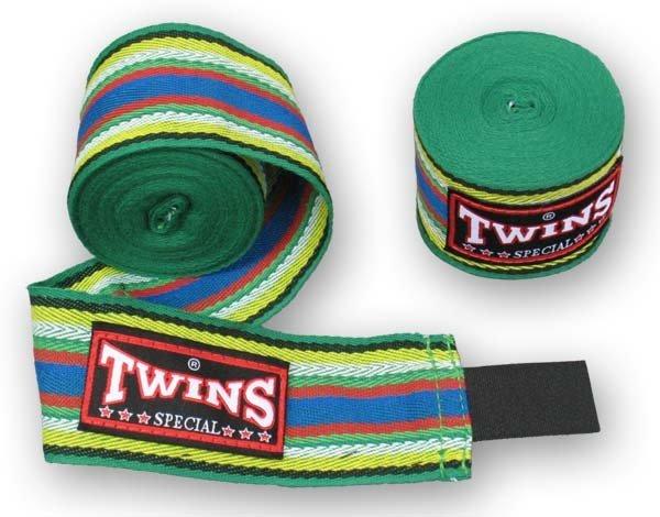 [古川小夫]TWINSMMA泰拳拳擊手綁帶~combat手綁帶~5米BOXING-綠底彩色