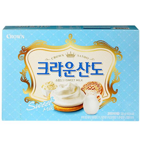 韓國Crown牛奶三明治餅乾(161g)