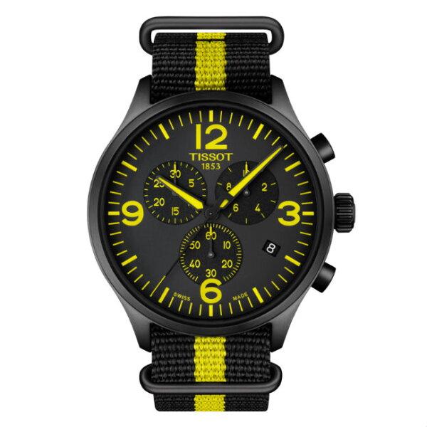 TISSOT天梭錶CHRONOXLT1166173705700時尚計時腕錶黑面45mm