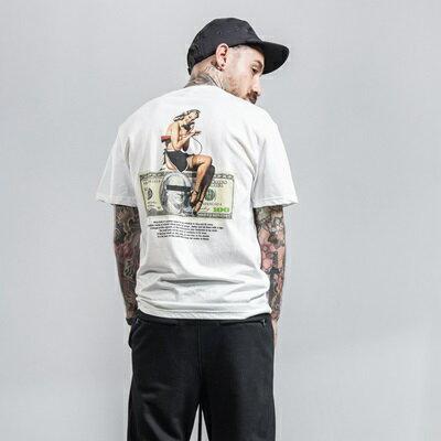 短袖T恤休閒上衣-性感女僕美金印花男裝4色73qx37【獨家進口】【米蘭精品】 2
