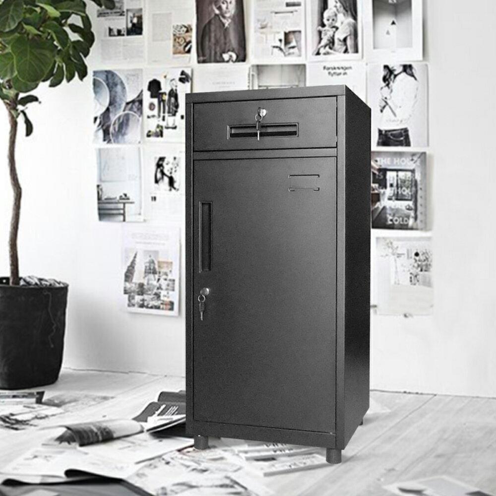 置物櫃 / 辦公櫃 / 鐵櫃 OP黑砂紋辦公置物小鐵櫃【TAW025】 2