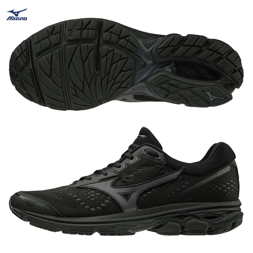 WAVE RIDER 22 一般型 男款慢跑鞋 J1GC183113(黑)【美津濃MIZUNO】 0