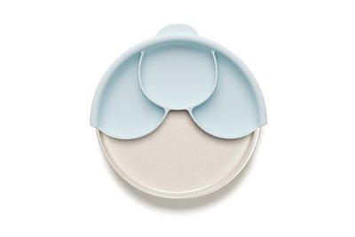 【舊金山設計品牌Miniware】分隔餐盤組-薄荷綠+牛奶麥片