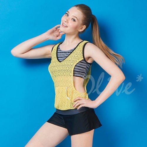 ☆小薇的店☆MIT潘它貝拉【蕾絲拼接風格】時尚二件式泳裝特價1420元NO.1601104(M-XL)