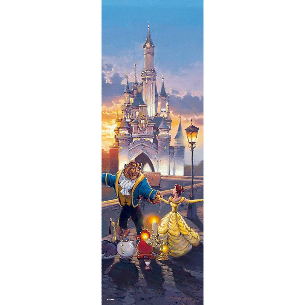 【預購】日本進口正版  迪士尼 美女與野獸 456片拼圖 彩色玻璃 透明壓克力材質 迪斯尼 日本【星野日本玩具】