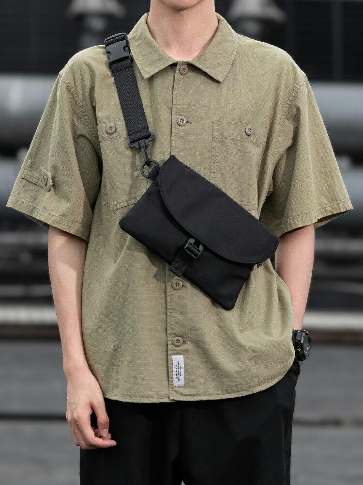 斜背包 側背包男 嘻哈迷你潮牌單肩包胸包男街頭個性小掛包斜背包斜背包小包女男包『CM42434』