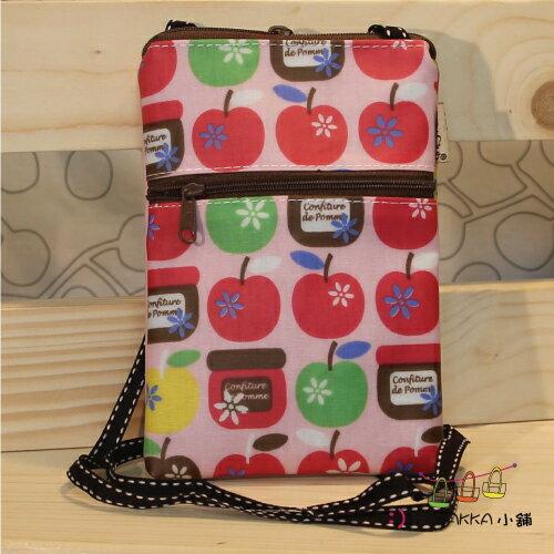 Dolly club 朵莉俱樂部-【手機側背包5.5吋-粉紅小蘋果】*臻ZAKKA小舖*防水包包雜貨