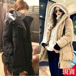 現貨 韓國空運 鴨絨羽絨外套 大衣 保暖零下 熱銷追加 ibella