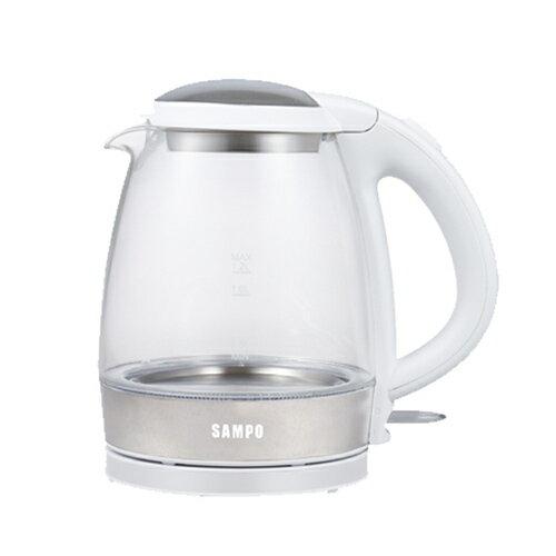 聲寶 SAMPO 1.2L玻璃快煮壺 /台 KP-CA12G