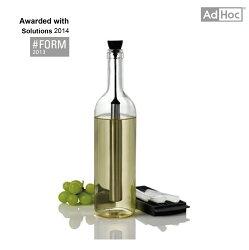 AdHoc 酒瓶保冷棒(附製冰盒)-保冷酒瓶塞兩用,不稀釋飲料風味,附製冰盒可不斷提供冰柱,德國精品設計