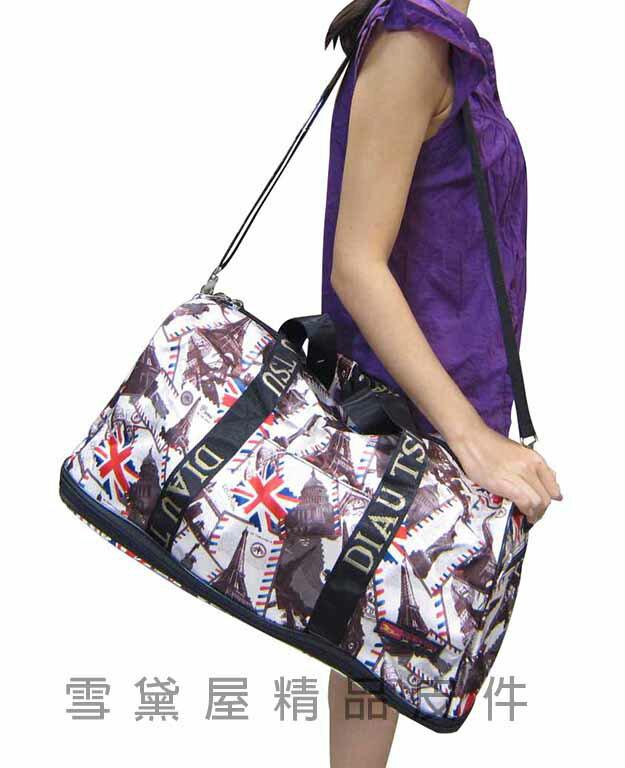 ~雪黛屋~GOLDEM~STAR 旅行袋可加大容量可手提可肩背可斜側背防水尼龍好收納可刷洗