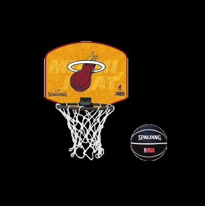[陽光樂活] SPALDING 斯伯丁 NBA隊徽小籃板系列 熱火 Heat(小籃板+小籃球) SPA77626