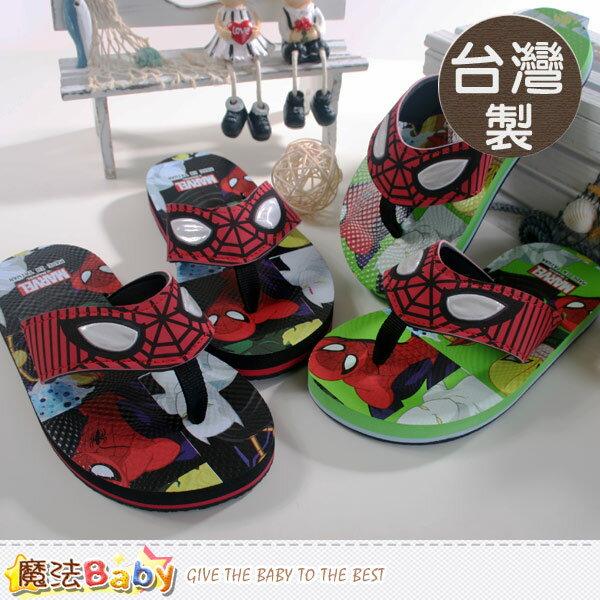 台灣製蜘蛛人電影授權正版兒童人字拖鞋 魔法Baby~sh7025