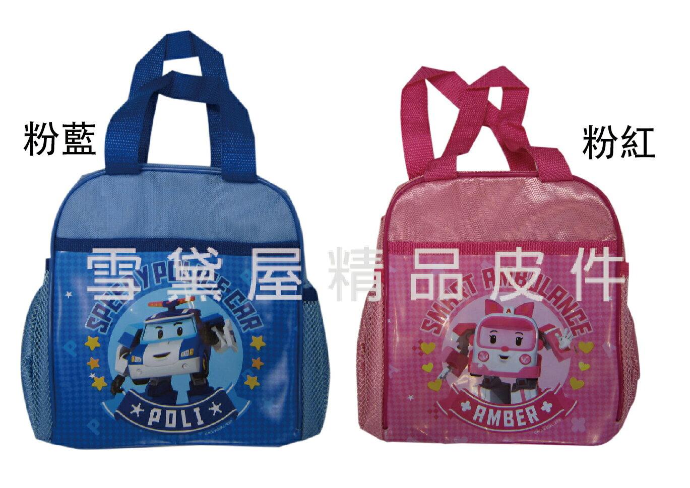 <br/><br/> ~雪黛屋~波力 餐袋便當袋正版授權公司貨商品防水尼龍布材質可放水瓶網袋國家安檢標準KFN3A34<br/><br/>