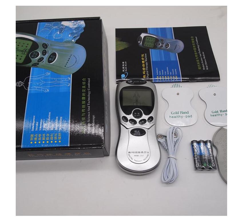 家用頸椎腰部電子脈沖按摩器 多功能數碼經絡理療器 針灸電療儀穴位按摩器 歐姆龍 低周波 1