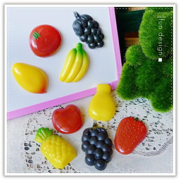 【aife life】水果冰箱磁鐵-12入/黑板/白板/造型磁鐵/留言板/MEMO/便條紙/兒童玩具/辦家家酒