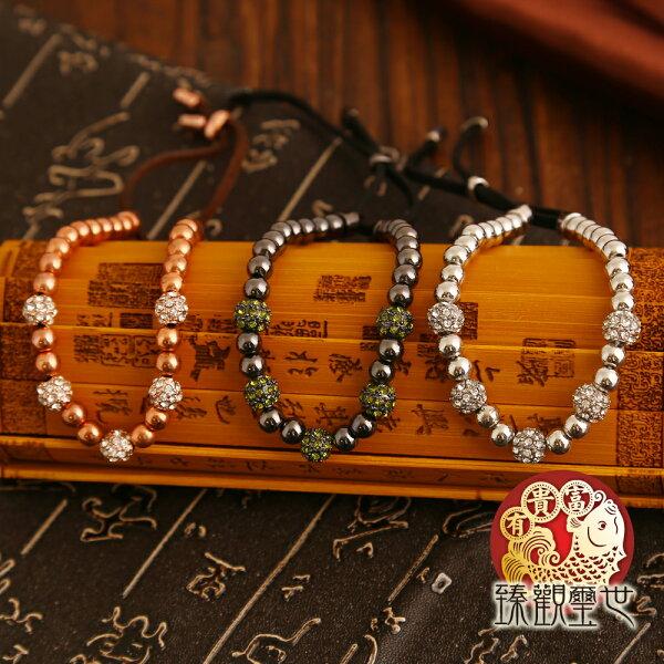 台灣百年風水開運轉運專家-臻觀璽世:幸福圍繞高貴水鑽手環含開光臻觀璽世IS4341