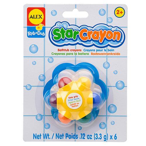 【淘氣寶寶】【美國ALEX】星星洗澡蠟筆