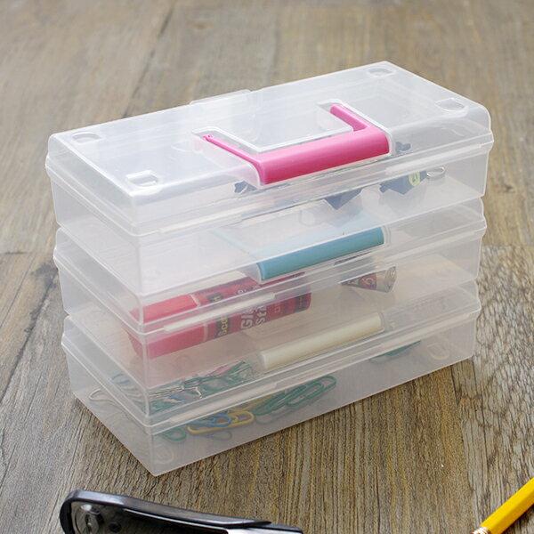 日本製 窄型長方收納盒 透明盒 置物盒 儲存盒 文具盒 飾品收納盒【SV5078】快樂生活網