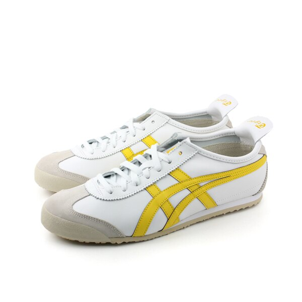 Onitsuka Tiger MEXICO 66 鞋 休閒鞋 皮革 白色 黃色 男鞋 女鞋