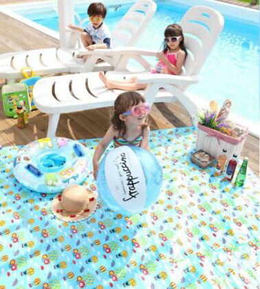 Funnimals◆可愛繽紛活力糖果色防水防潮墊兒童沙灘墊爬行墊野餐墊-藍色汽球