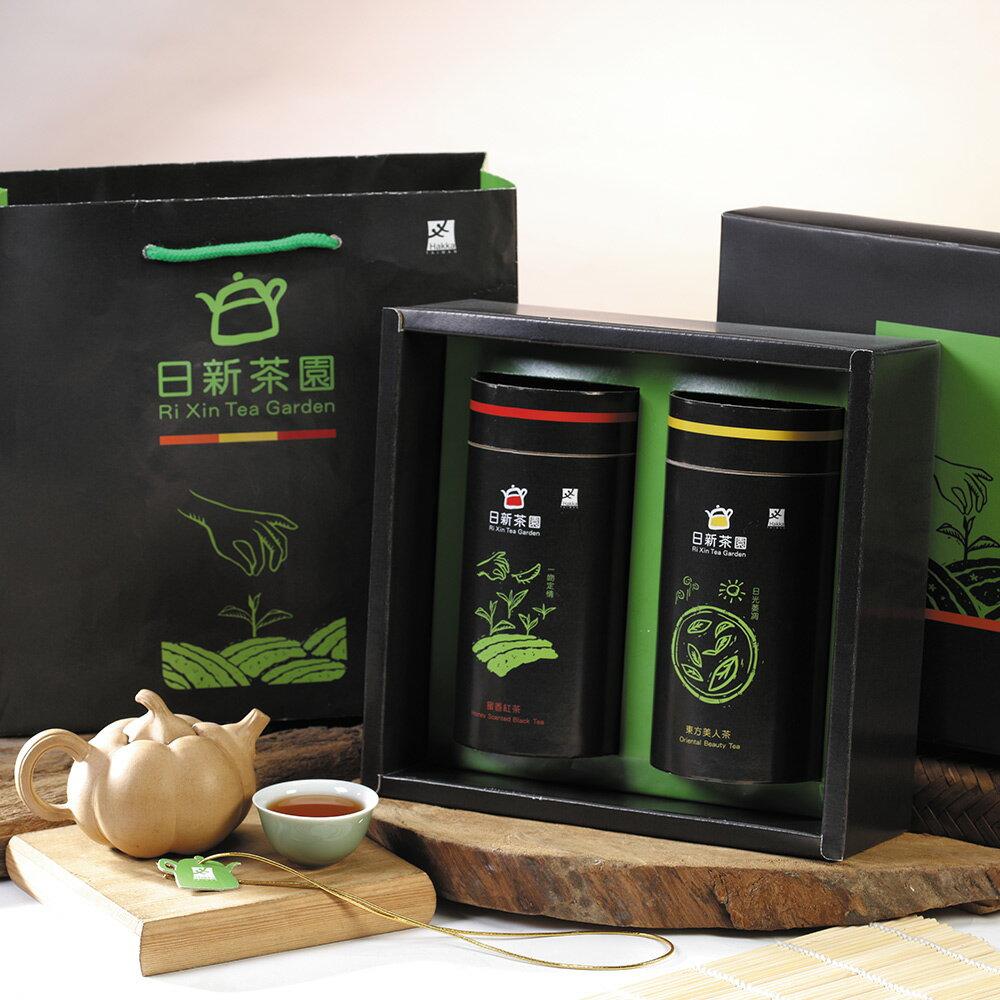 【日新有機茶園】日新茶園東方美人茶、蜜香紅茶禮盒(2入/盒)