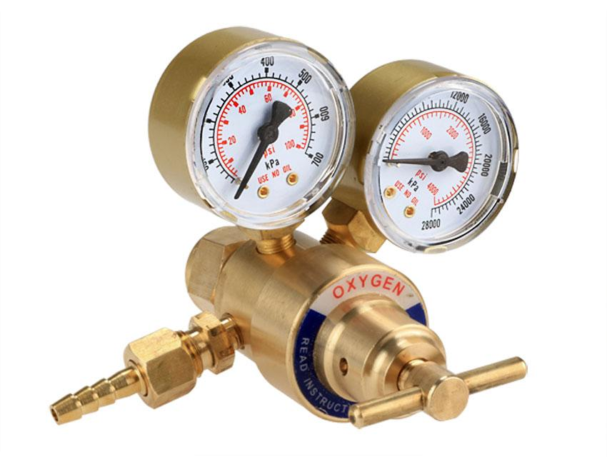 Rear Mount Oxygen Gas Welding Welder Brass Regulator Pressure Gauge 1