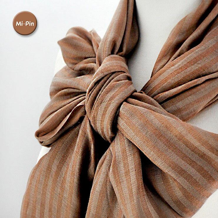 喀什米爾Pashmina圍巾-條紋浮水印-共2色