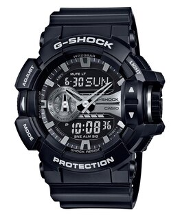 CASIOG-SHOCKGA-400GB-1A新式街頭黑金流行腕錶52mm