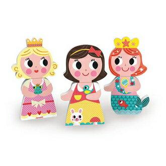 永昌文具用品有限公司 【法國Janod】磁性拼裝積木-童話公主 J08032 / 組