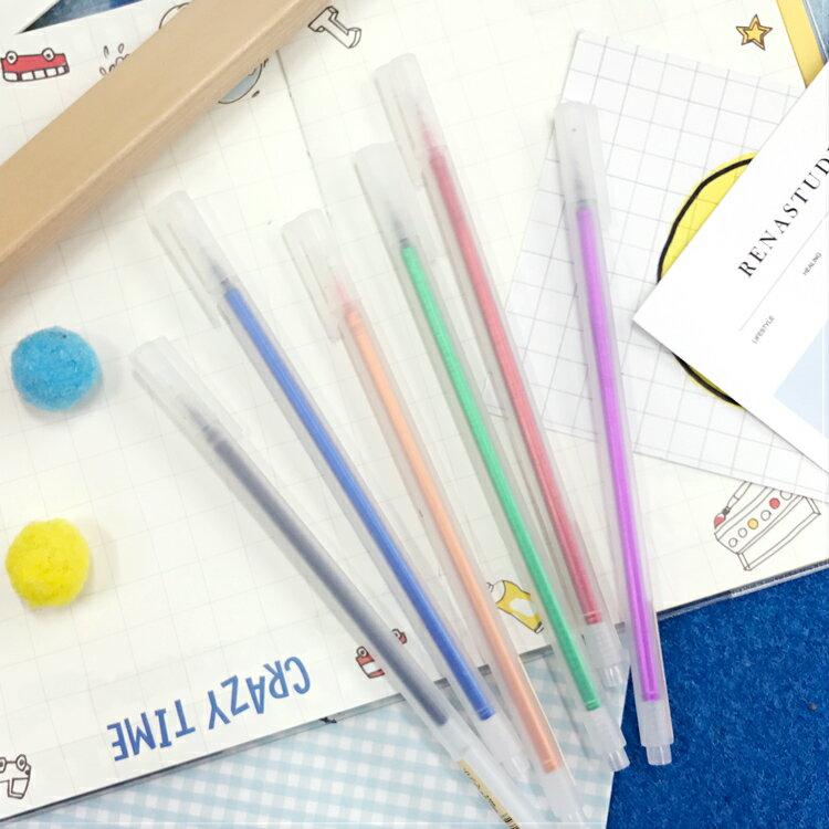 PGS7 富士 拍立得 塗鴉筆 - 無印良品 風格 超好寫 中性筆 (6色) 彩繪 筆 塗鴉 手帳 卡片【SHZ7525】