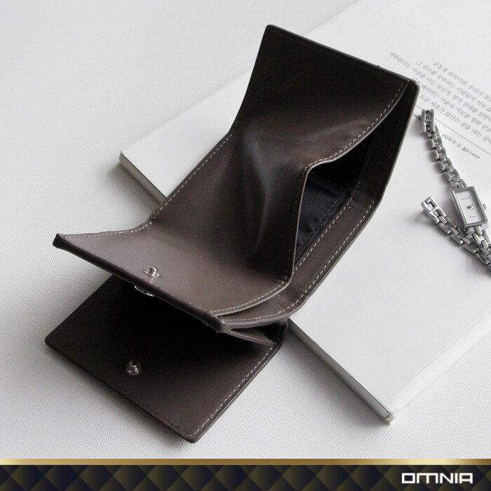 韓國 OMNIA 維芬編織紋真皮女用短夾 皮夾皮包錢包 NO.3286C【韓國直送】 2