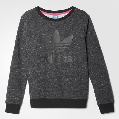 [尋寶趣]adidas Originals 愛迪達 黑灰 雪花 灰 大學T 薄長袖 長T AY7905