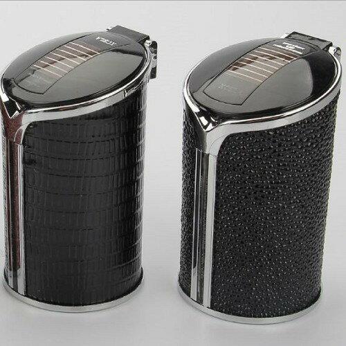 汽車菸灰缸 太陽能 LED燈 菸灰缸 車用煙灰缸 杯型 居家 款  沂軒 A0266