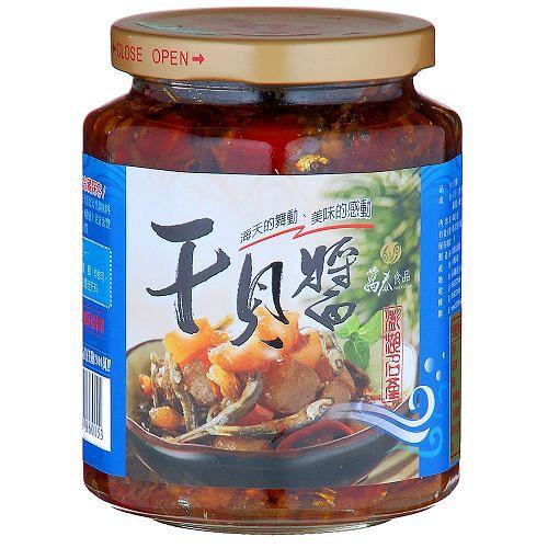 澎湖萬泰干貝醬-小辣450g【愛買】