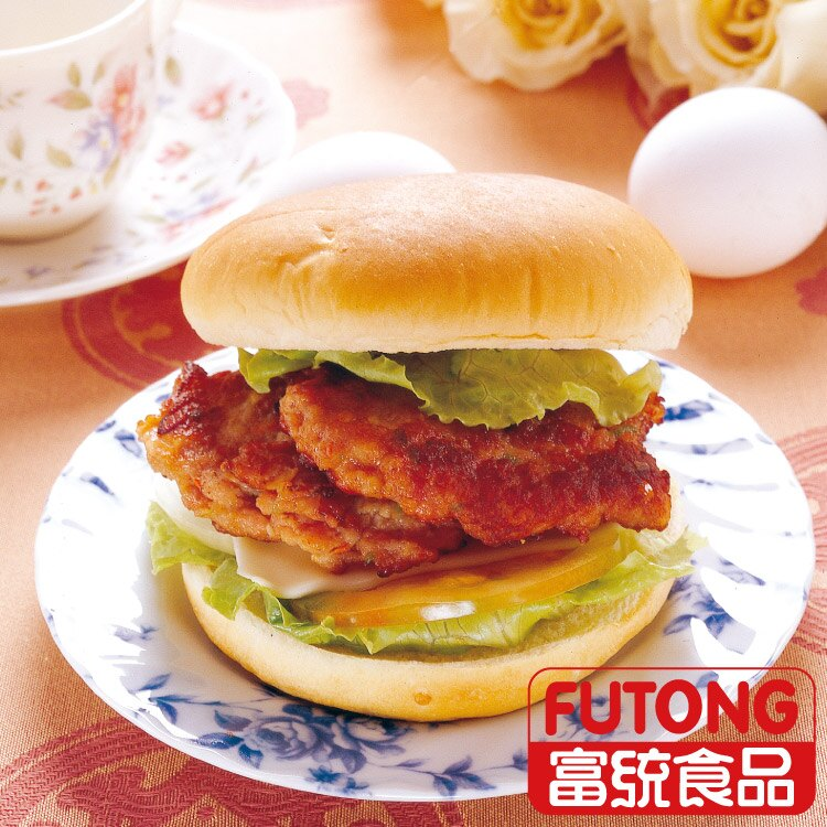【富統食品】丸狀漢堡排20粒 - 限時優惠好康折扣