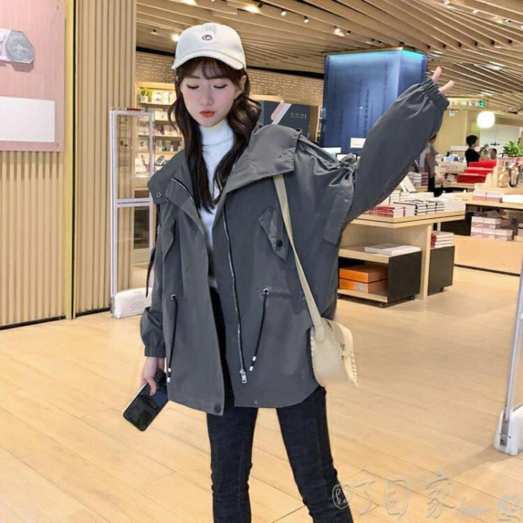 風衣流行新款風衣女裝中長款小個子寬鬆百搭秋冬季加絨韓版外套