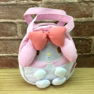 【真愛日本】 17051700009 立體造型拉鍊提袋-MM粉 三麗鷗 Melody 美樂蒂 便當袋 餐袋 手提包包