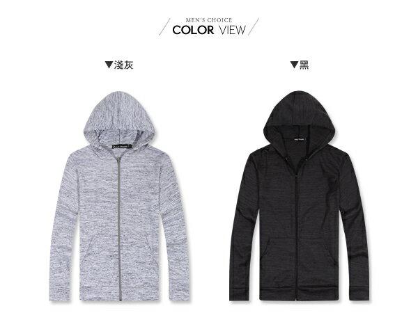 ☆BOY-2☆【NM3600】情侶休閒針織混色連帽薄外套 2