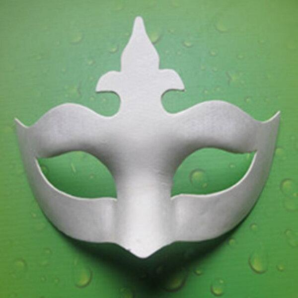 塔克玩具百貨:紙面具新皇冠(附鬆緊帶)皇冠女王畫臉白面具空白面具DIY面具白色面具【塔克】
