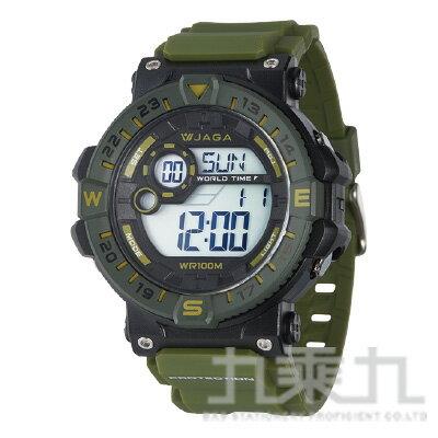 【618購物節 最低五折起】JAGA 冷光男用電子錶 M1131-AF