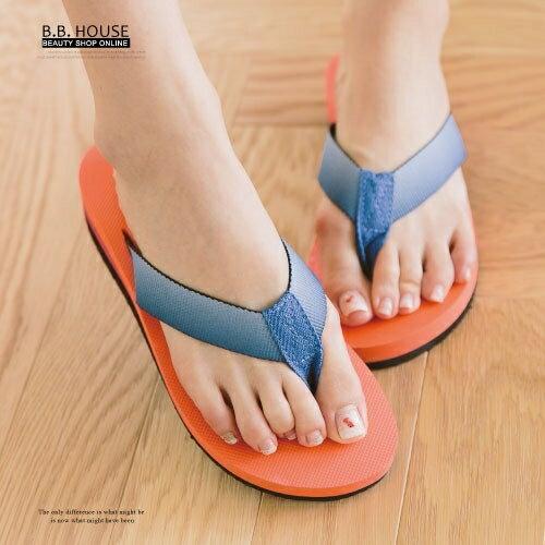 拖鞋-PLAYBOY輕盈夾腳海灘拖鞋.寶貝窩 .【PYS1207】(橘色)