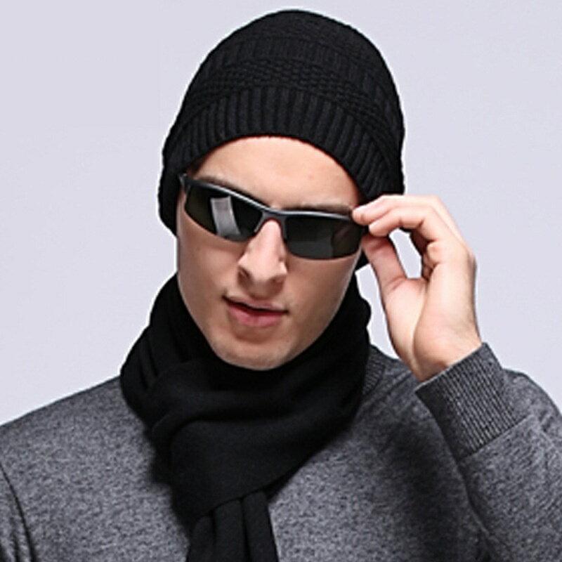 毛帽羊毛針織帽-純色休閒保暖護耳男帽子3色73wj49【獨家進口】【米蘭精品】 1