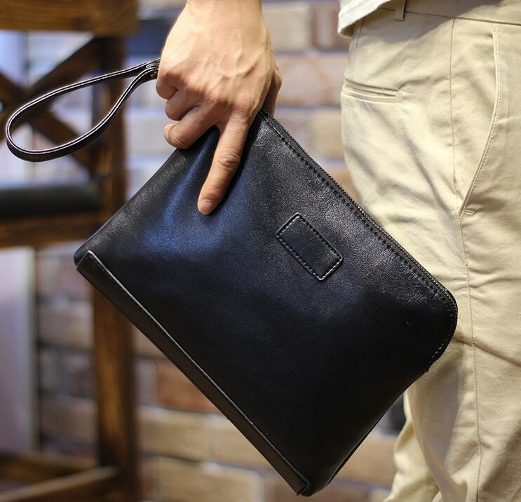 FINDSENSE Z1 韓國 時尚 潮 男 皮質 商務 手拿包 手機包 皮夾包 公事包