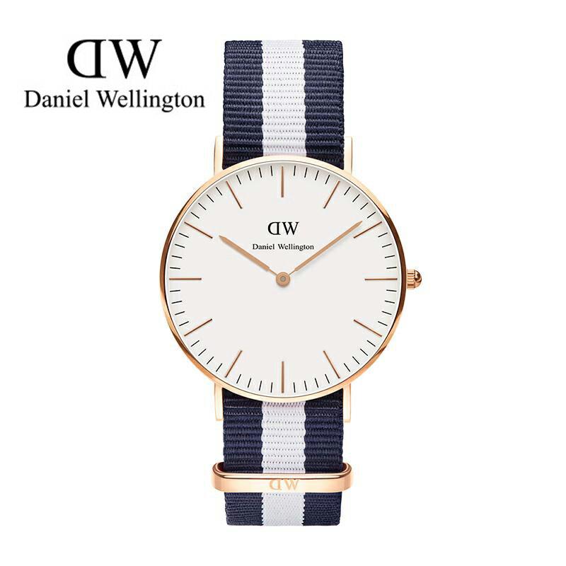 瑞典正品代購 Daniel Wellington 0503DW 玫瑰金 尼龍 帆布錶帶 女錶手錶腕錶 36MM 0