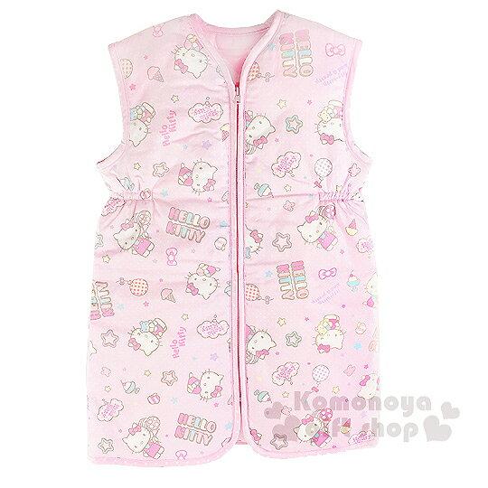〔小禮堂嬰幼館〕台灣 佳美 Hello Kitty 防踢睡袍《粉.星星.冰淇淋滿版》給寶寶最貼心的呵護