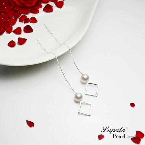 大東山珠寶 燦爛光芒 日本AKOYA天然海水珍珠純銀耳環 雙珠耳線兩用款 3