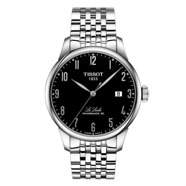 TISSOT天梭錶T0064071105200力洛克經典80小時動力機械腕錶黑面39.3mm