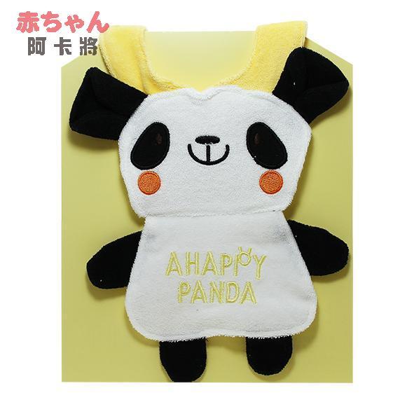 genki bebi 元氣寶寶 卡哇依動物造型圍兜-熊貓