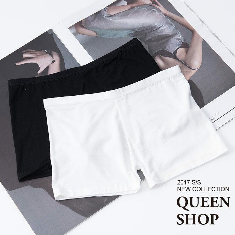 Queen Shop【04020444】素面安全褲 兩色售*預購*